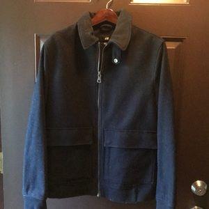 H&M Wool Navy Bomber Jacket